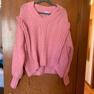 Zara pink sweater